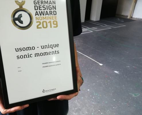 German Design Award Nominee 2019 usomo