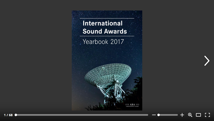 International Sound Awards 2017 Yearbook